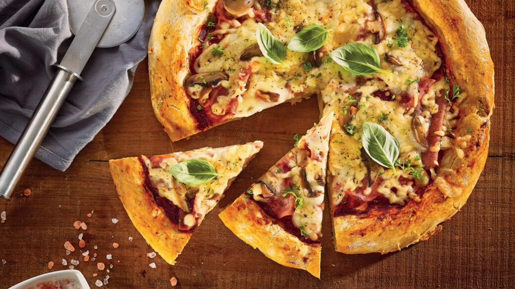 Perfect TV dinner? Homemade pizza!