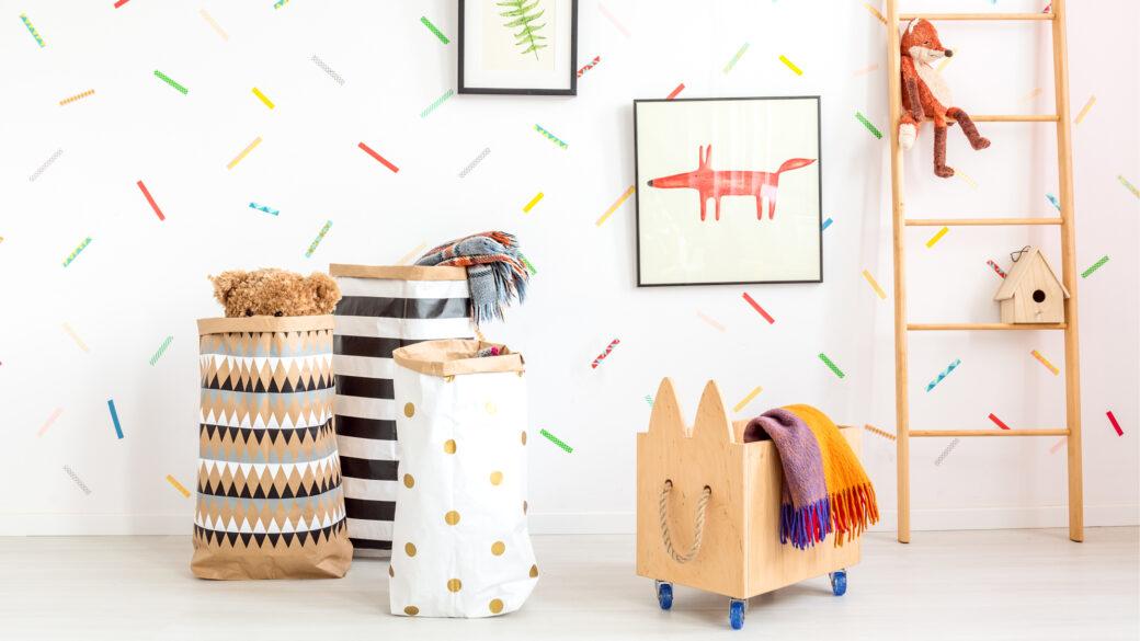 Zamisli, kako urediti in pospraviti otroške igrače